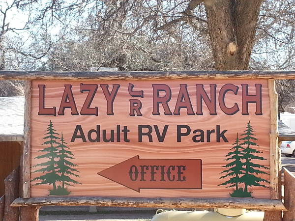 Entrance to Lazy JR Ranch